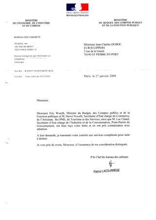 WEB Ministère Finances
