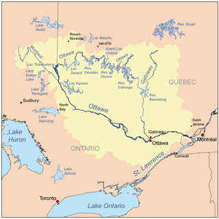 Carte région ottawa