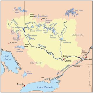 Carte région ottawa