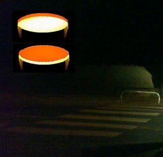 Ovni ovale jaune rouge oleron