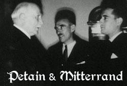 Petain et Mitterrand