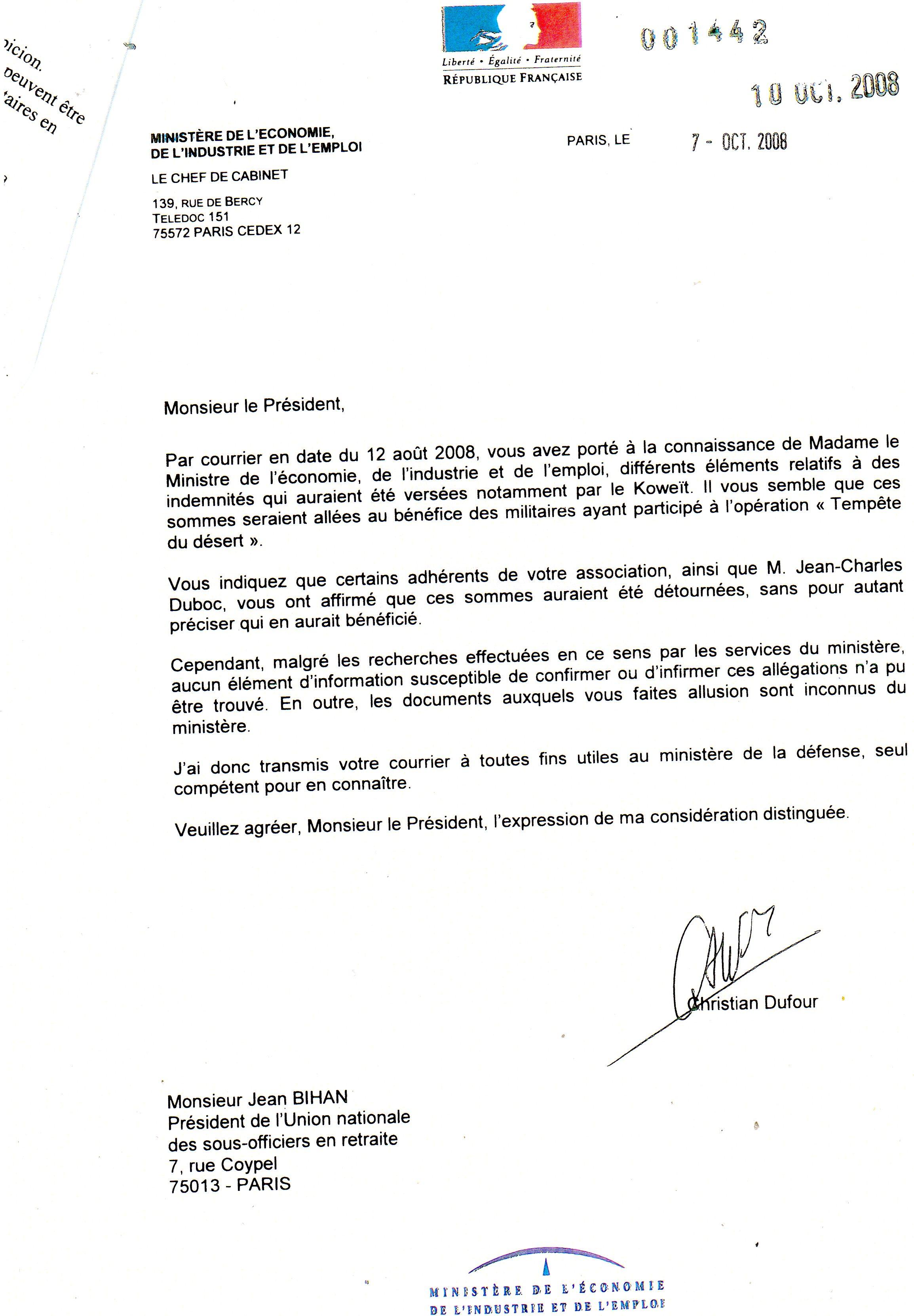 Exemple De Lettre Adressée Au Ministre De Lintérieur - Le ...