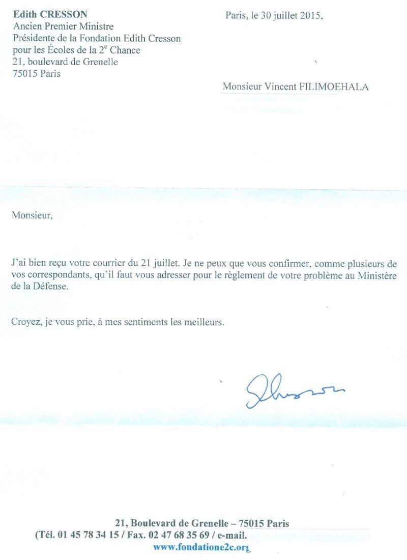 Cresson Réponse à Vincent0001